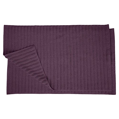 Superior Bath Mats Set 1000 Gram Long-Staple Combed Cotton for Bathroom, 2 Piece, Eggplant ()