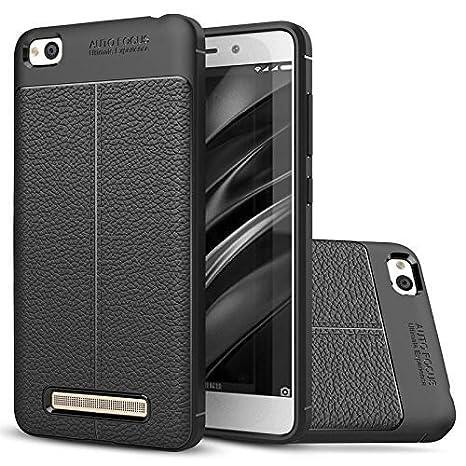 MOBICLONICS reg; Autofocus Leather Like Cover for Xiaomi Redimi Mi 5A Black
