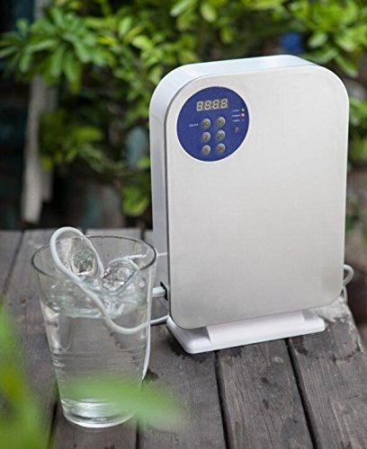 Ozone Generator for Water and Air Purification - O3 Ozone Sterilizer with Digital Timer and Remote for Cleaning Vegetables and Fruits, Purifying Water, Removing Odors and Bacteria from the Air
