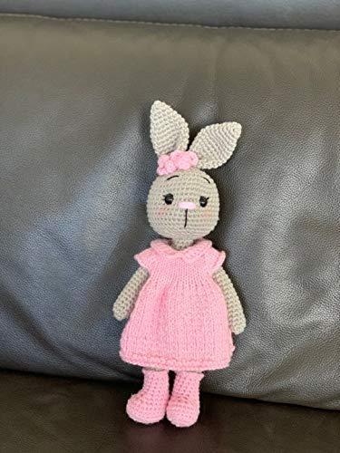 Cute Amigurumi Pattern Little Bunny Suzy Diy Amigurumi Kit CROCHET KIT AMIGURUMI Large Crochet Toy Learn to Diy Crochet Gift Doll