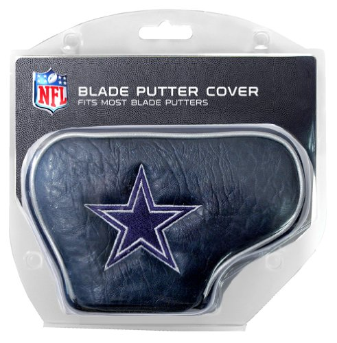 Team Golf NFL Dallas Cowboys Golf Club Blade Putter Headcover, Fits Most Blade Putters, Scotty Cameron, Taylormade, Odyssey, Titleist, Ping, (Dallas Cowboys Headcover)