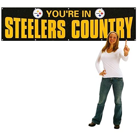 Party Animal Sports Team Logo Pittsburgh Steelers Giant 8' x 2' Banner