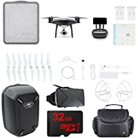 DJI Phantom 4 PRO+ Plus Quadcopter Drone w/ Deluxe Controller Obsidian Bundle includes Drone, Propeller Guards, Spare Battery, Hardshell Backpack, Bag, VR Viewer and 32GB MicroSD Memory Card