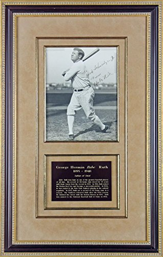 Bell Sports Signed Babe Ruth Photo - & Framed 8x10 #W0396...