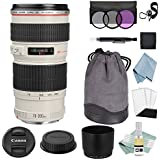 Canon EF 70-200mm f/4L USM Lens + Advanced Accessory Kit - Canon Lens Bundle Includes EVERYTHING You Need to Get Started