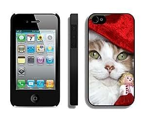 Individualization Big Blue Eys Christmas Cat Black PC HTC One M9s, HTC One M9 Case
