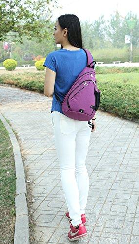 FreeMaster - Mochila cruzada para el hombro, tamaño pequeño, color gris, tamaño 18.7H x 11.8W x 5.1T inch (47 x 30 x 13cm), volumen liters 19 Purple
