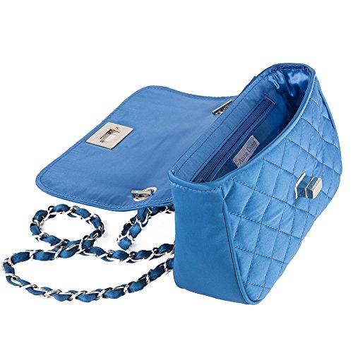 Borsa a tracolla, Luigia azzurra, in tessuto