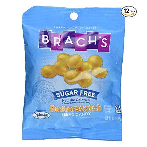 SweetGourmet Brach's Sugar Free Butterscotch Hard Candies 3.5 oz (Pack of 12) by SweetGourmet