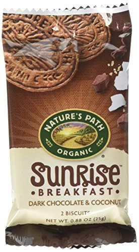 (Nature's Path Organic Sunrise Breakfast Biscuits, Dark Chocolate & Coconut, 7 Ounce Box (6 Count))