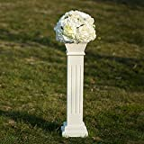 Cloud Mountain Roman Venetian Decoration Wedding Ceremonies Stage Props Column Holds Flower Plates Pillars 26' Tall, White