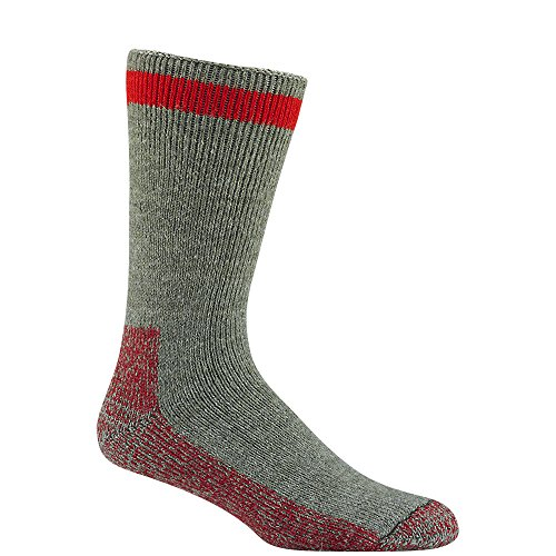 Wigwam Canada Sock,Medium,Country Moss/Red