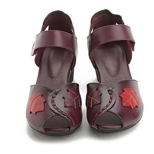 L@YC® Sandalias Planas De Mujeres Pieles De Boca De Pieles áSperas Con La Plataforma De Bomba De SatéN Bola De Boda Zapatos Purple