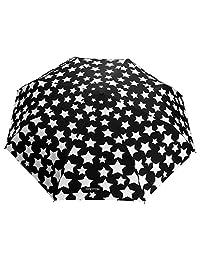 OMOTON Unbreakable Windproof Fiberglass Umbrella, Changes Color with Water, Black