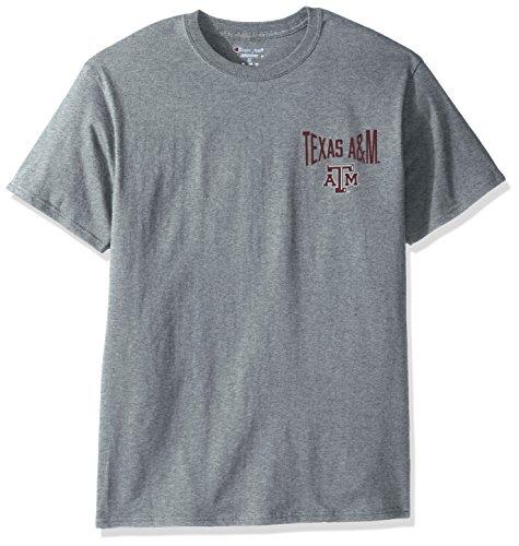 Texas A&m Aggies Oxford (NCAA Texas A&M Aggies Men's Champ Short sleeve T-Shirt 6, XX-Large, Oxford Heather)