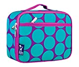 Mozlly Multipack - Wilkin Big Dot Aqua Insulated Lunch Box - 9.75 x 7 x 3.25 inch - Sturdy, Durable - Food Safe - PVC, BPA and Phthalate Free - Storage and Organization (Pack of 6) - Item #S165013_X6