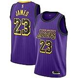 brand new 51fef 7b526 Mitchell & Ness Men's Los Angeles Lakers Lebron James Dri-FIT Purple City  Edition Swingman Jersey