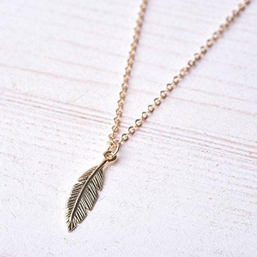 Men's Necklace - Men's Gold Necklace - Men's Feather Necklace - Men's Gold Filled Necklace - Men's Jewelry - Necklaces For Men - Jewelry For Men