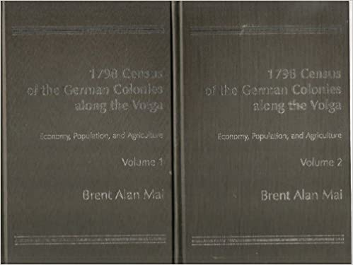 1798 Census of the German Colonies Along the Volga (2 vol set) (Vol 1 and 2): Brent Alan Mai: Amazon.com: Books