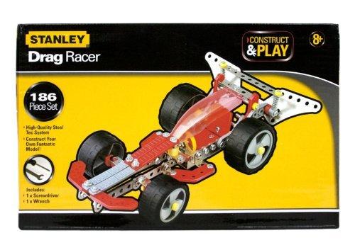 Stanley Construct & Play Drag Racer 186 Piece Set Drag Racer Set