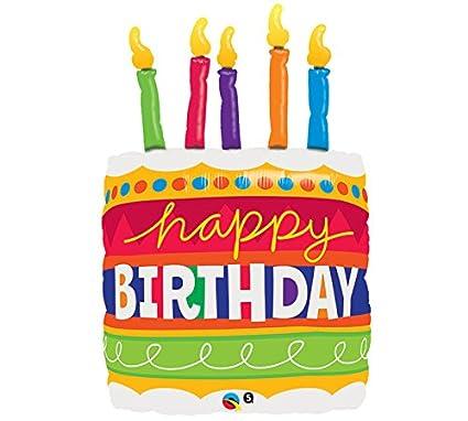 Amazon Happy Birthday Cake 35 Supershape Foil Balloon Toys