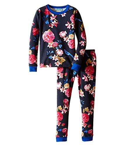 BedHead Kids Girl's Long Sleeve Long Bottom Pajama Set (Toddler/Little Kids) Mr. Blue Jay Pajama Set 4T (Toddler)