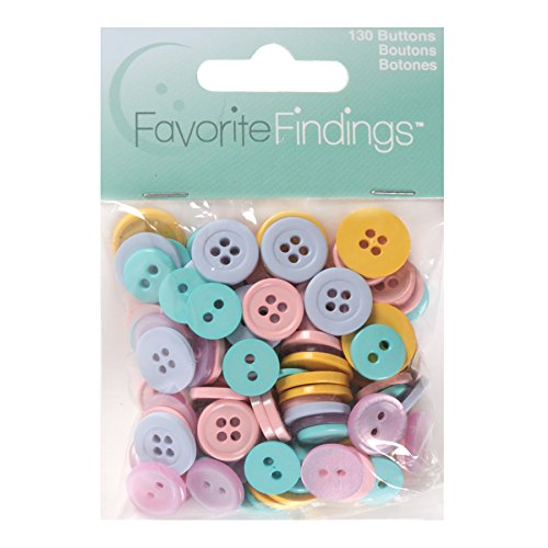 Blumenthal Lansing Basic Buttons Assorted Sizes, 130/Pkg, Pastels