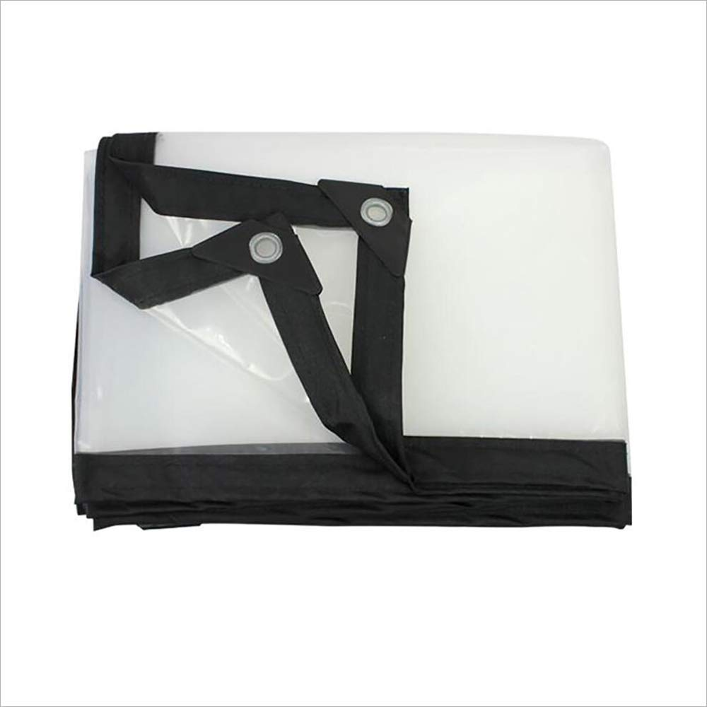2mx4m ParksonTents Transparent Thick Waterproof Tarpaulin Waterproof Cloth Plastic Cloth Rain Cloth Rain Cloth Tarpaulin Insulation Cloth ++