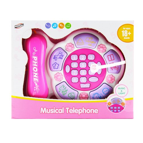 Pretend Play Musical Telephone with Music & Light