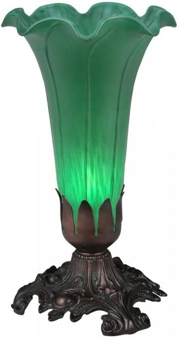 """Meyda Home Indoor Decorative Lighting Accessories 8""""H Green Pond Lily Accent Lamp"""