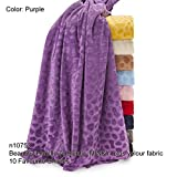 Neotrims Minky MINKIE Plush Velour Cuddle Fabric, Velour Soft For Photography & Crafts. 10 Fashion Colours, Medium Weight with Great Drape, Beautiful Cuddly Handle. Velvet Plush Pile for garments, home décor and crafts. Classic Pebbles Pattern embossed. Great Wholesale Price.