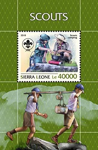 Sierra Leone - 2018 Boy Scouts - Stamp Souvenir Sheet - SRL18805b