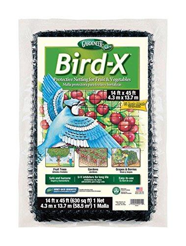 Dalen 791043467966 Bird Netting 14'X45', 2 Pack, Brown/A
