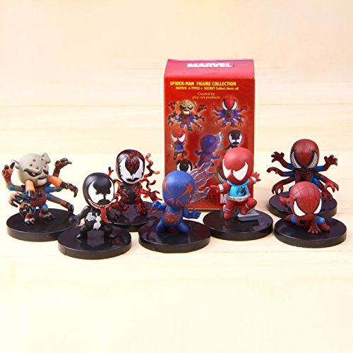 The Avengers Spider Man Spiderman 7 Style/ Set Figure Collection Toy (Spider Man Noir Costume)