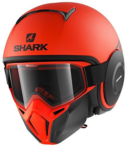 Shark casco jet Drak Street talla ne/ón negro naranja talla M