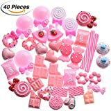 #10: Bememo 40 Pieces Slime Charms Sweets Slime Beads Candy Ornaments for Slime Decor Accessories