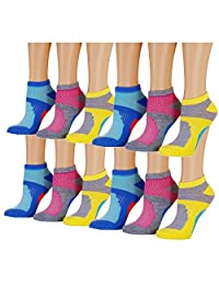 Tipi Toe Mujer 12-pairs corte bajo calcetines de Athletic Sport peformance