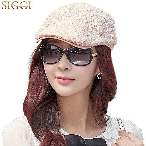 Siggi Womens British Summer Newsboy Irish Ivy Caps Cabbie Driving Flat  Stylish Hat Pink fad595ac9c
