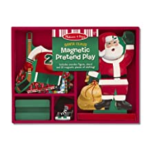 Santa Claus Pretend Play - Magnetic Dress Up Wooden Doll & Stand + FREE Melissa & Doug Scratch Art Mini-Pad Bundle [35514]