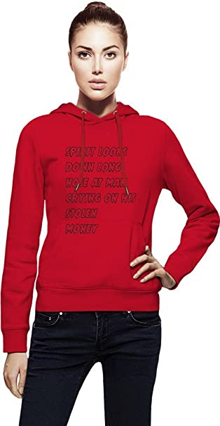 spirit looks down long nose at man crying on his stolen Womens Hoodie X-Large: Amazon.es: Ropa y accesorios