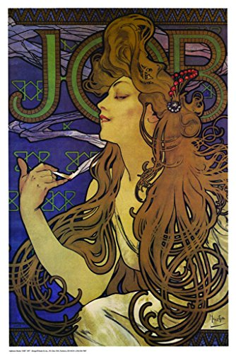 vintage JOB POSTER Alphonse Mucha Print 24x36