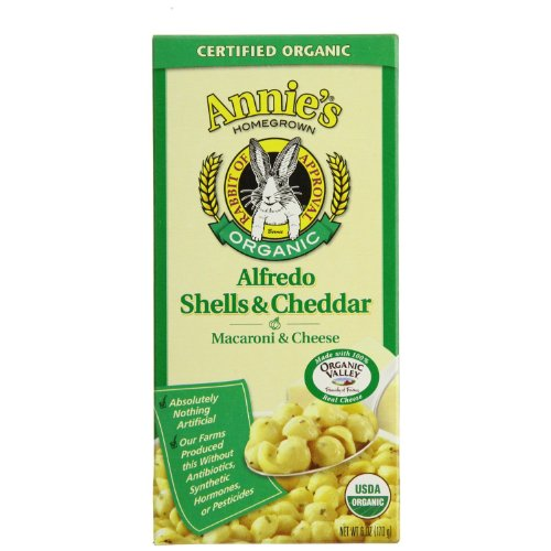 Annie's Homegrown Organic Alfredo Shells & Cheddar 6-Ounce (Pack of 3)
