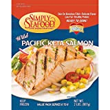 Simply Wild-Caught Pacific Keta Salmon, 10 lb. packages, low fat, Omega 3, Healthy Protein, ready to cook