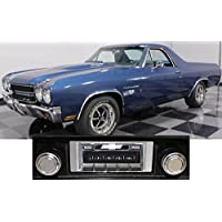 1969-1972 Chevrolet El Camino USA-630 II High Power 300 watt AM FM Car Stereo/Radio with AUX Input, USB Input, iPod Docking Cable. No modifications to original dash required.