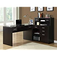 CAPPUCCINO LEFT OR RIGHT FACING CORNER COMPUTER DESK WITH DRAWER
