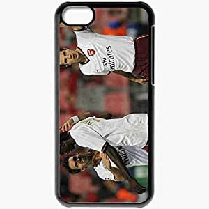 Personalized iPhone 5C Cell phone Case/Cover Skin Arsenal Football Black
