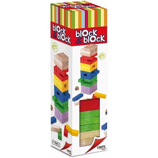 Cayro - Torre de Madera Block & Block Colores - Juego de observación y lógica - Juego de Mesa - Desarrollo de Habilidades cognitivas e inteligencias múltiples - Juego de Mesa (859): Amazon.es: Oficina y papelería