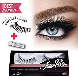 Professional False Eyelashes By Iris in Paris Glamorous Perfect for Beginners Reusable Great for Contact Lens Wearers Glamorous Fake Eyelashes
