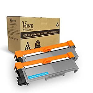 V4INK 2-Pack New Compatible Brother TN630 TN660 Toner Cartridge Black for Brother HL-L2340DW HL-L2300D HL-L2380DW MFC-L2700DW L2740DW DCP-L2540DW L2520DW HL-L2320D MFC-L2720DW L2740DW Printer
