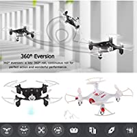 Cewaal Mini Quadcopter Helicopter Aircraft Drone Gyro Remote Control HD Pixel 4CH Roll Cameras Vedio Headless Mode